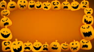 Loopable Jack O Lantern Border video