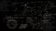 Loopable Math Symbols Journey Flying Through Camera. video