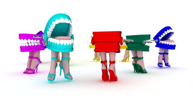 Loopable, Multicolor Joke Teeth, All Female Characters, Running in Circle video