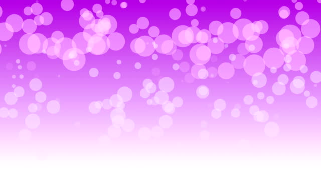 Loopable particles with purple white gradient background 4K video