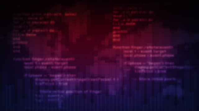 Loopable program code. 4 videos in 1 file. video