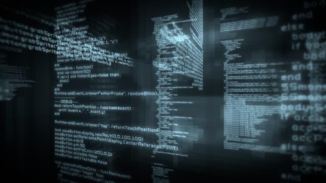 Loopable program code. Black. 2 videos in 1 file. video