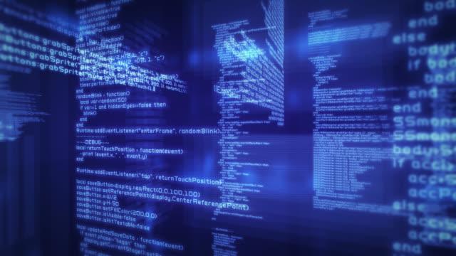 Loopable program code. Blue. 3 videos in 1 file. Techbology. video