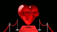Loopable Red Carpet Heart on Black video