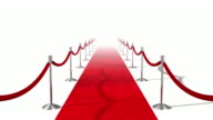 Loopable Red Carpet on White video