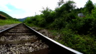 Loopable ride over railroad track video