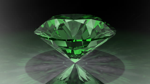Loopable, Rotating Green Diamond video