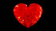 Loopable Rotating or ticking diamond heart video
