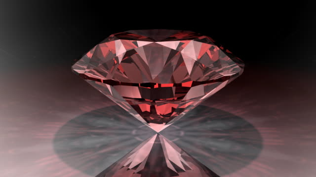 Loopable, Rotating Red Diamond video