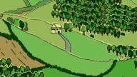 Loopable Rural Landscape doodle PLAIN version video