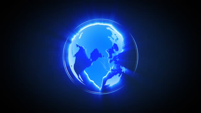LOOPable Shiny Globe Turning Animation video