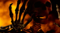 Loopable, Speaking, Singing Skeleton with Fire for Halloween video