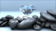 Loopable, Spinning Diamond on Rocks video