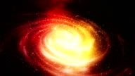 Loopable spiral galaxy background footage video