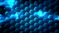 Loopable technology hex background video