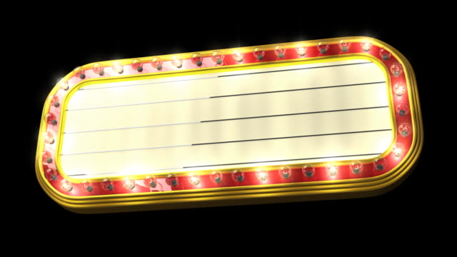 Loopable Theater Marquee video