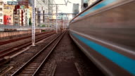 Loopable Tokyo Trains Time Lapse video