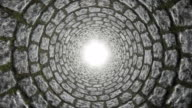 Loopable tunnel. Abstract Geometry. video