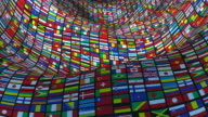 Loopable, Tunnel of World Flags video