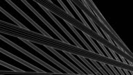 Loopable White Wire Frame Poles Abstract On Black Background video