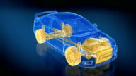 3 loopable X-ray Car animations. HD video