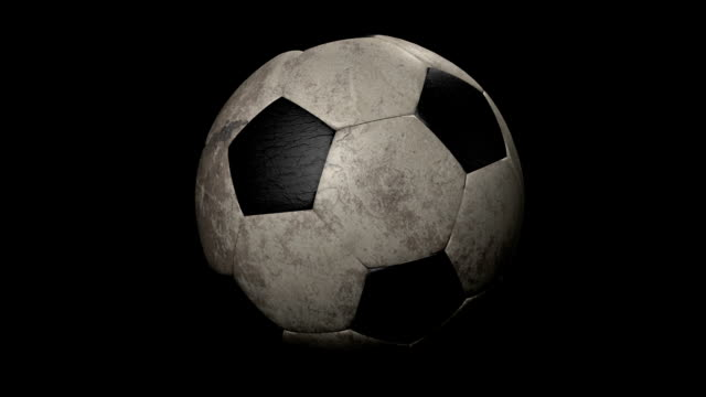 Looped Old Soccer Ball Animation video