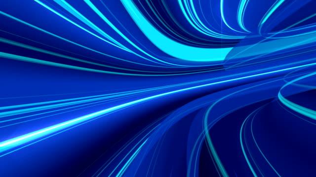 Looping 4K VJ video animation of warp speed travel through wormhole video