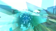 Looping abstract futuristic background HD, NTSC, PAL video