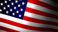 Looping American Flag HD video
