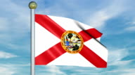 Looping Animated Flag of Florida on a Pole video