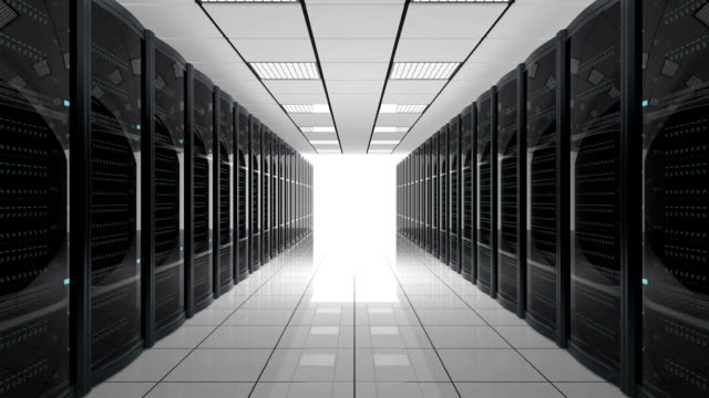 Looping animation of blade server system video
