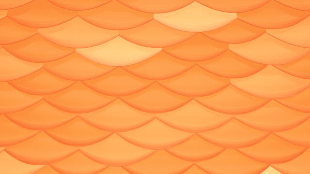 Looping background orange shimmering scales video
