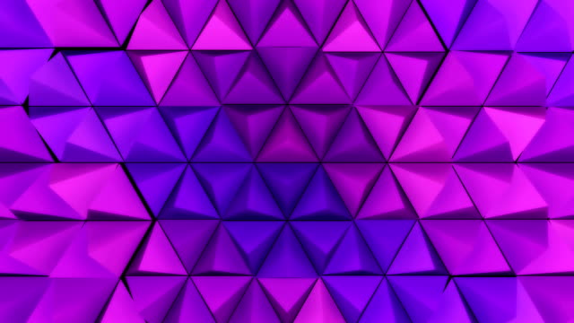 Looping background purple pyramid peaks and hexagon patterns video