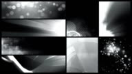 Looping Banner Backgrounds - 24 Video Value Pack Black & White video