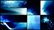 Looping Banner Backgrounds - 24 Video Value Pack Blue video