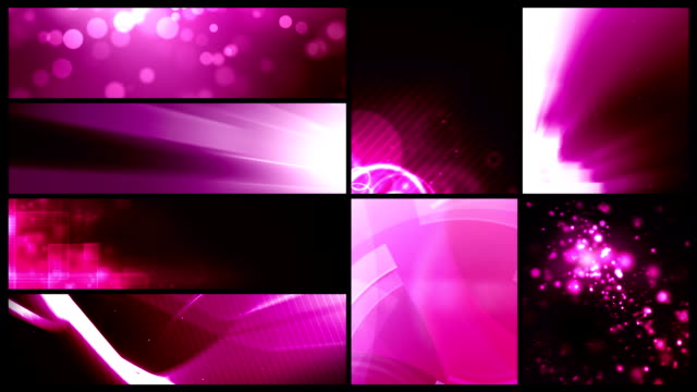 Looping Banner Backgrounds - 24 Video Value Pack Pink video