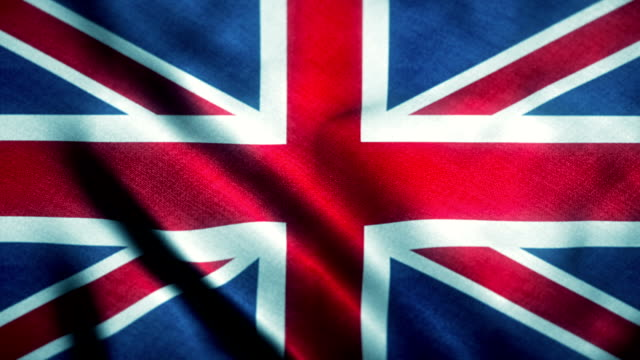 looping British flag with texture and shine video