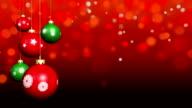 Looping Christmas ornaments video