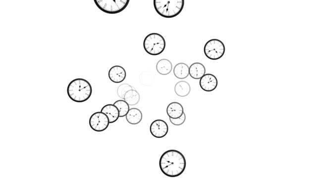 Looping clock animation - alpha video