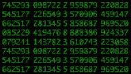 Looping Digital Data Sequence of Numbers video