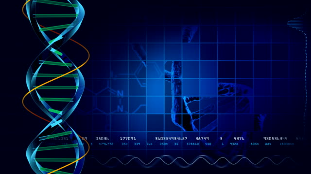 Looping DNA background video