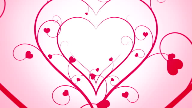 Looping Hearts Grow Background Pink video