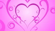 Looping Hearts Grow Background V2 Pink video