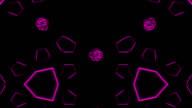 Looping kaleidoscope sequence video