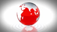 Looping Red Glass World video