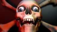 Looping Skull and Crossbones for Halloween video