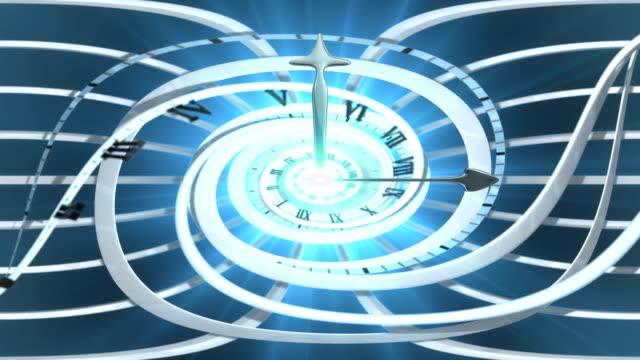 Looping Spiral clock video