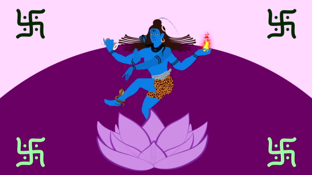 Lord Shiva Standing in a Lotus Flower video