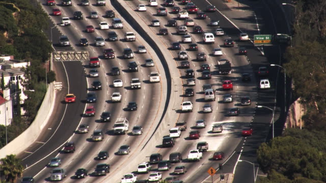 Los Angeles 101 Freeway Traffic (HD) video