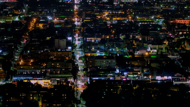 Los Angeles Aerial City Grid View and Pan video